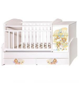 Кровать-трансформер  Ульяна 1 Медвежата, цвет: белый Антел