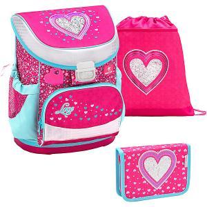 Ранец  Mini-Fit Heart, с наполнением Belmil. Цвет: красный