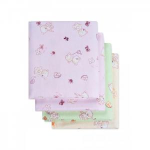 Пеленка  фланелевая Мишки с сачком 4 шт. Чудо-чадо