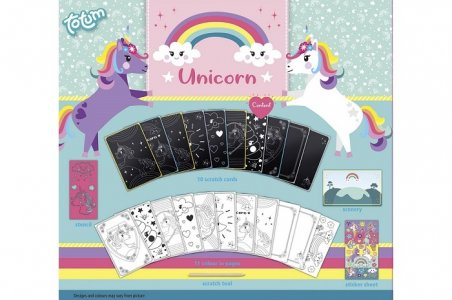 Набор для творчества Альбом граттажа Unicorn Totum