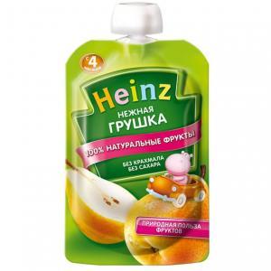 Пюре  груша с 4 месяцев, 100 г Heinz