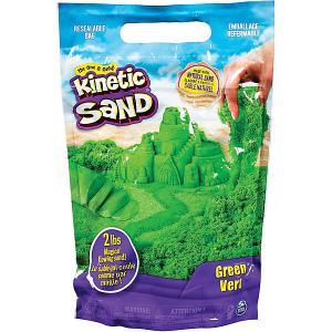 Песок для лепки Kinetic Sand большой Spin Master. Цвет: зеленый