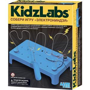Набор для конструирования  KidzLabs Собери игру ЭлектроНиндзя 4M