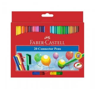 Набор фломастеров  с клипом 20 шт. Faber-Castell