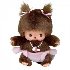 Мягкая игрушка  Девочка в подгузнике 15 см Monchhichi