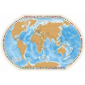 Карта со скрейч-слоем Мир моих Путешествий Издательство Ди Эм Би