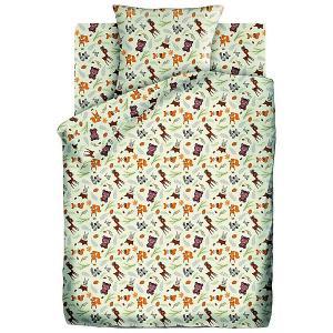 Детское постельное белье 1,5 сп. Кошки-Мышки (70х70см) Маленькие зверушки. Цвет: разноцветный