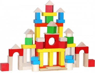 Деревянная игрушка  Строим сами окрашенный 66 деталей Краснокамская