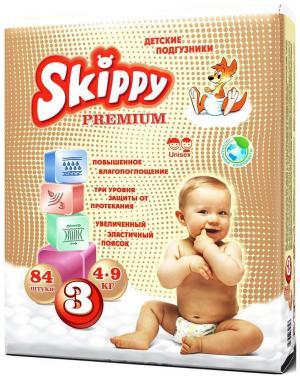 Подгузники  (4-9 кг) 84 шт. Skippy