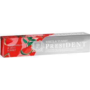 Зубная паста President White & Yummy Арбузно-мятный сорбет , 75 г