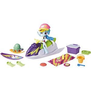 Игровой набор с мини-куклой Equestria Girls Пижамная вечеринка Пляжный спорт Рэйнбоу Дэш Hasbro