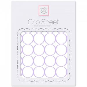 Простынь на резинке Fitted Crib Sheet Circles 132х70х20 SwaddleDesigns