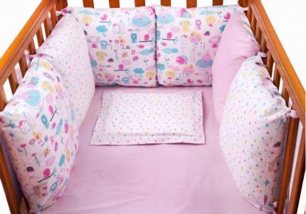 Бортик в кроватку  Девочки 6 подушек Daisy