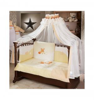 Комплект постельного белья  Pony, цвет: бежевый 6 предметов Feretti