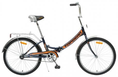 Велосипед  Compact, цвет: черный/оранжевый Top Gear