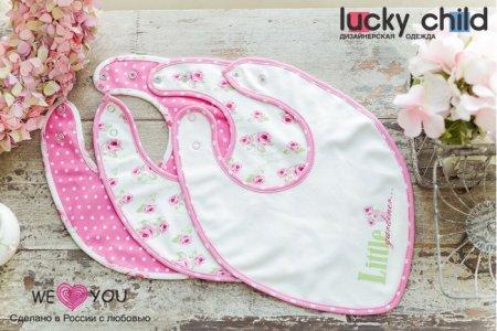 Нагрудник  для девочки Маленькая садовница 3 шт. Lucky Child