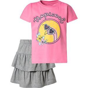 Комплект Name it: футболка и юбка it. Цвет: голубой