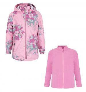 Комплект толстовка/ветровка , цвет: розовый/красный Stella