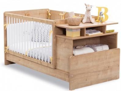 Кроватка-трансформер  с полками Mocha Baby 110х70/140х70 см Cilek
