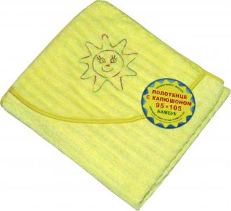 Полотенце с уголком , цвет: желтый bq