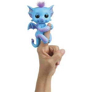 Интерактивный дракон  Fingerlings Тара, 12 см WowWee. Цвет: голубой