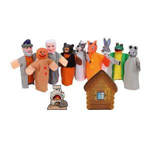 Кукольный театр 2 в 1  Теремок и Колобок Жирафики. Цвет: разноцветный