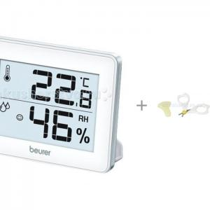 Термометр  HM16 гигрометр с ножницами Pigeon для ногтей новорожденных Beurer