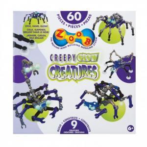 Конструктор  Glow Creepy Creatures 60 элементов Zoob