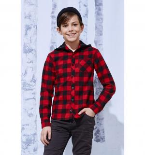 Рубашка , цвет: красный Смена