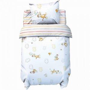 Постельное белье  бейби Веселые жирафы (3 предмета) Крошка Я