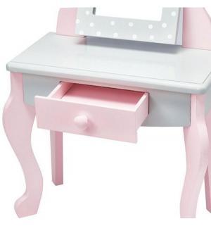Набор мебели для кукол  Мир Принцесс Туалетный столик с зеркалом и стульчиком 49 см Kids4kids