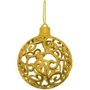 Объемное украшение на елку  Шар 8 см, золотой B&H