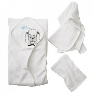 Комплект для купания махровый Овечка (3 предмета) Baby Nice (ОТК)