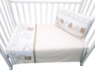 Постельное белье  Спящие зверушки (3 предмета) Сонная сказка