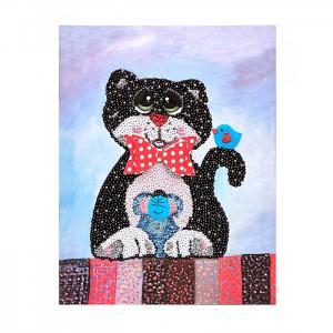 Мозаика из пайеток на холсте Кошки-мышки Волшебная мастерская