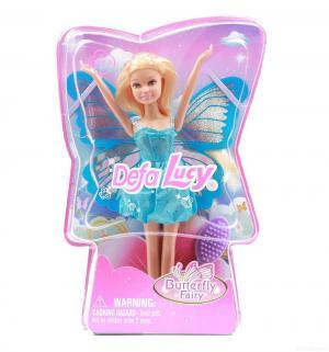 Кукла  Butterfly Fairy Фея с крыльями в голубом платье 22 см Defa Lucy