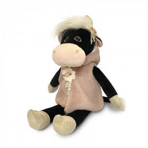 Мягкая игрушка  Коровка Даша в меховой накидке 28 см Maxitoys