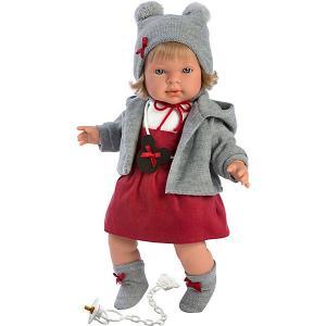 Кукла  Карла, 42 см, со звуком Llorens. Цвет: grau/rot