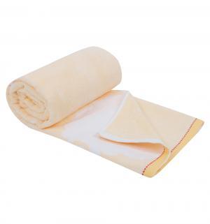 Полотенце  Овечка 70 х 140 см, цвет: желтый Артпостель