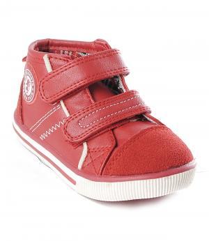 Ботинки на липучках (красные) King Boots. Цвет: красный