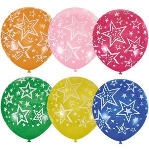 Воздушные шары  Звёзды 25 шт., декоратор (шёлк) Latex Occidental