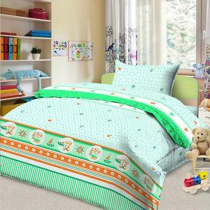 Детское постельное белье 3 предмета , BG-103 Letto. Цвет: зеленый