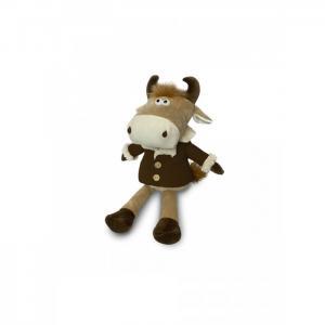 Мягкая игрушка  Бычок Баян в коричневой дубленке 20 см Maxitoys