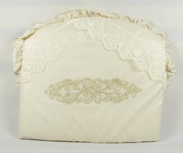 Комплект постельного белья  1802, цвет: бежевый 8 предметов бант 26 х 24 28 см Tizo