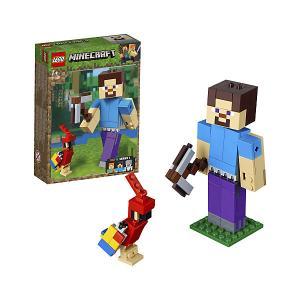 Конструктор  Minecraft 21148: Большие фигурки, Стив с попугаем LEGO