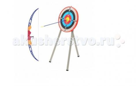 Набор Игрушечного оружия Лук и стрелы с мишенью на треноге Toy Target
