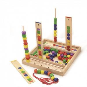 Деревянная игрушка  Набор для создания пирамидок по образцу Viga