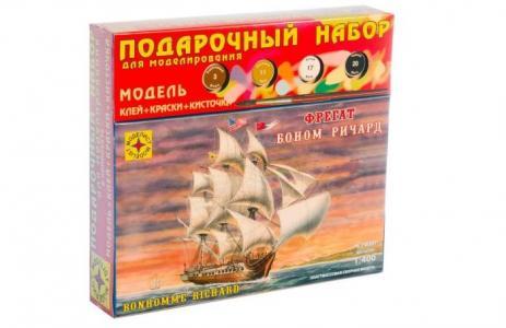 Модель Подарочный набор Корабль фрегат Боном Ричард Моделист