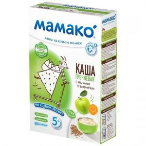 Каша  молочная гречневая с яблоком и морковью на козьем молоке 5 месяцев 200 г Мамако