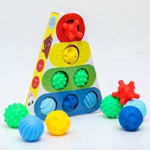 Набор развивающих мячиков Пирамидка 7 шт. Крошка Я